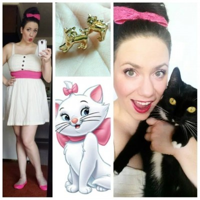 Brynne G. disney-bounding as Marie from The Aristocats