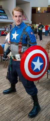 David Traylor as Captain America, photo by Charlie Mullen