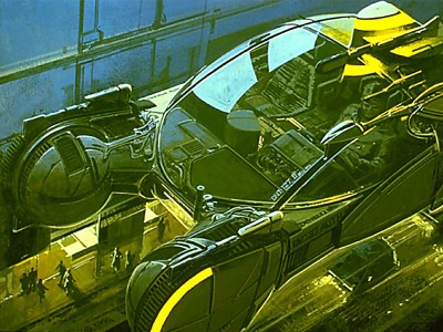 Android-Hunting-Mobile (spinner) copyright- Syd Mead