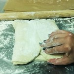Fold over the dough
