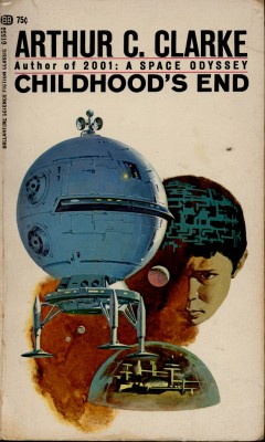 One of many covers for Clarke's Childhood's End.