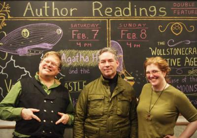 Phil Foglio, Jordan Stratford, and Kaja Foglio.